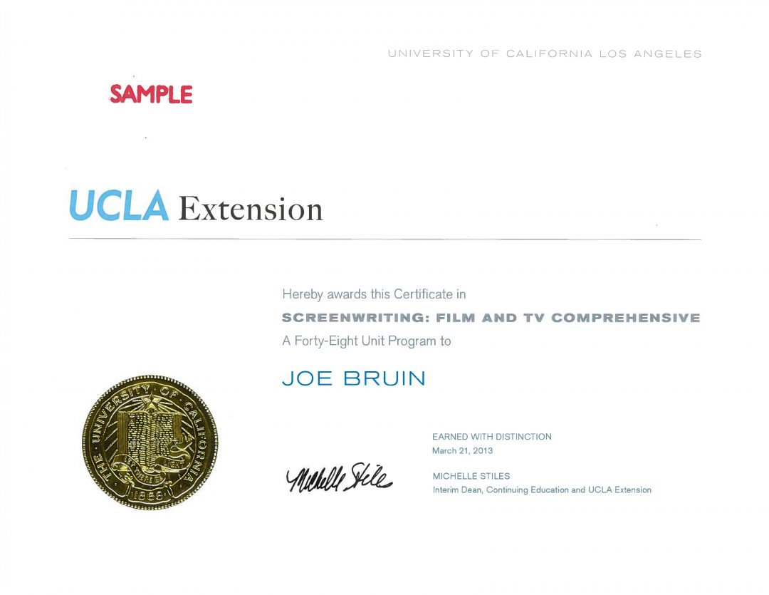 creative writing certificate programs california