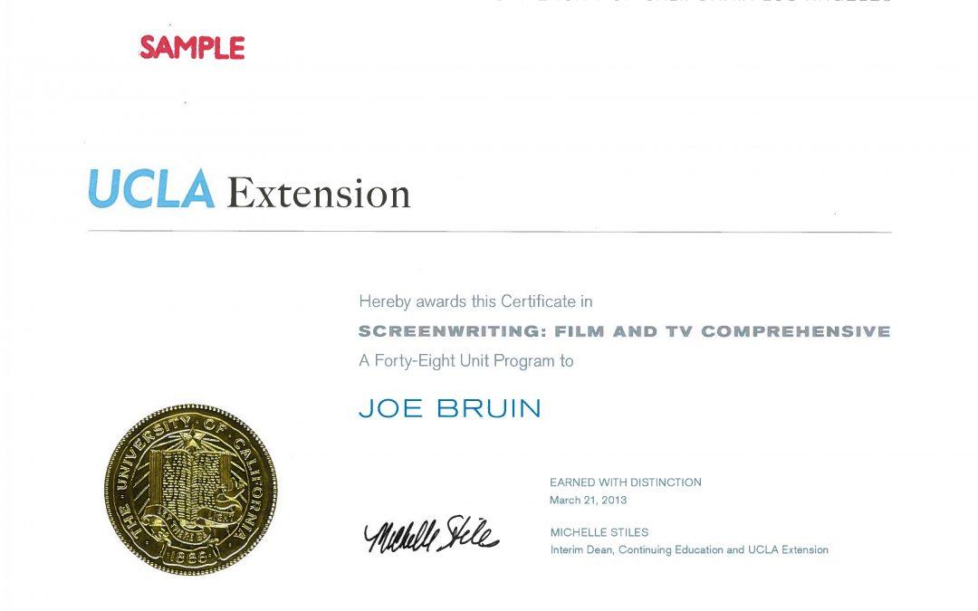 ucla certificate programs