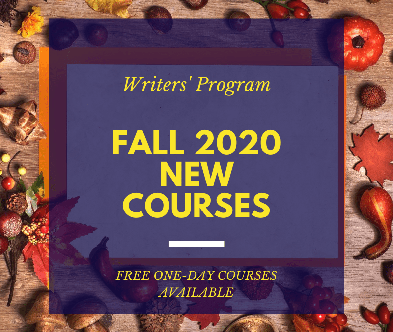 NEW Courses for Fall 2020